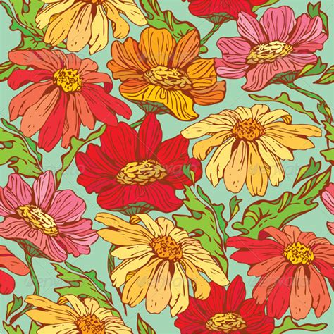 natural pattern flower floral seamless pattern jquery css de
