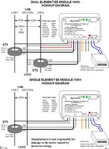watt meter wiring diagram