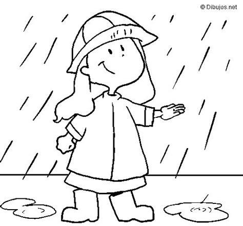 lluvia para colorear pintar im genes dibujo de lluvia 1 para colorear dibujos net