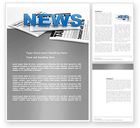 Free Newspaper Templates For Microsoft Word by Newspaper Template For Word New Calendar Template Site
