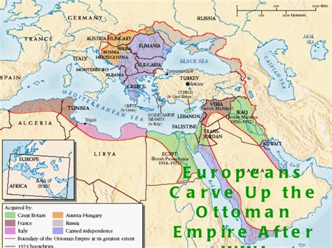What Happened To The Ottoman Empire After Wwi Map Of