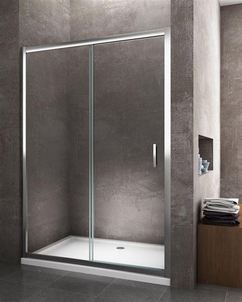 vetro doccia scorrevole nicchia porta doccia scorrevole reversibile cromo 6 mm