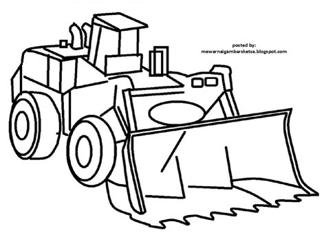Mewarnai Alat Transportasi gambar gambar mobil kartun mewarnai sketsa excavator di