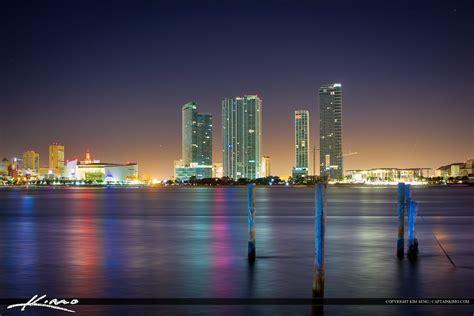 miami city skyline at night miami city buildings at night