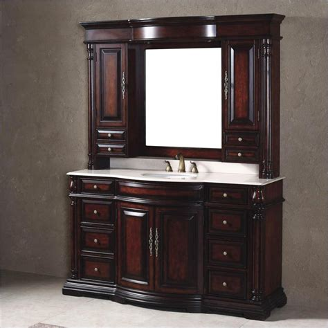 bathroom vanity with hutch martin classico 60 quot mirror hutch single vanity