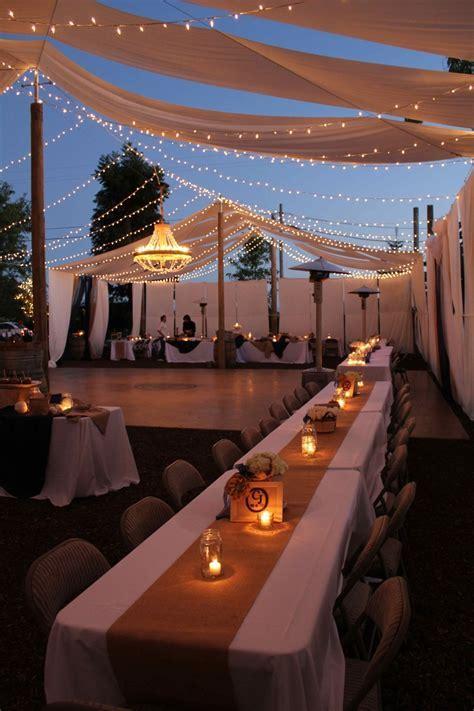 A beautiful night to celebrate!   DIY Backyard Wedding