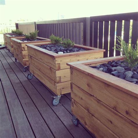 Planters Marvellous Deck Planter Boxes Building Your Own Deck Planter Boxes