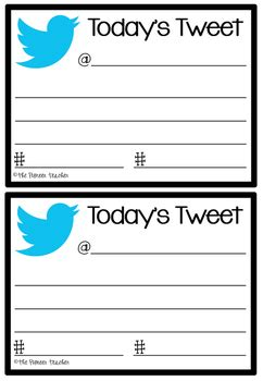 today's tweet exit cards by kids and coffee   teachers pay