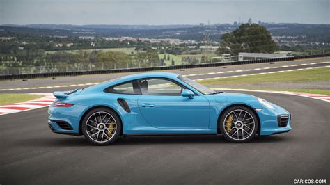 miami blue porsche wallpaper 2016 porsche 911 turbo s coupe color miami blue side