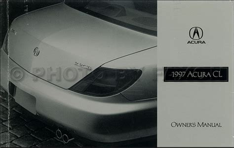 car repair manuals download 1997 acura cl user handbook 1997 1998 acura cl electrical troubleshooting manual original