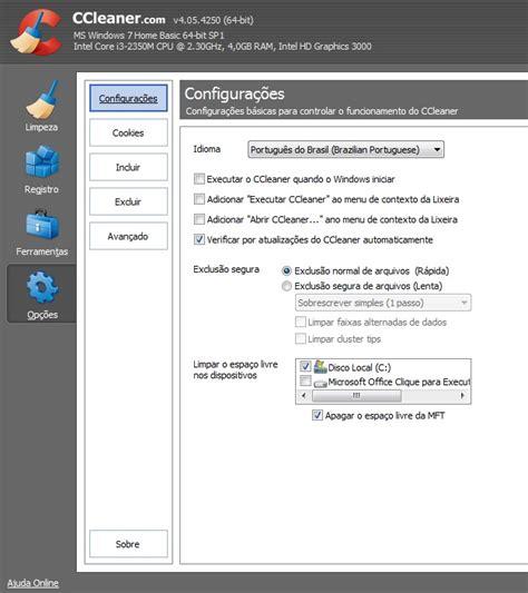 ccleaner qual o melhor dez dicas para usar o ccleaner e melhorar a velocidade do