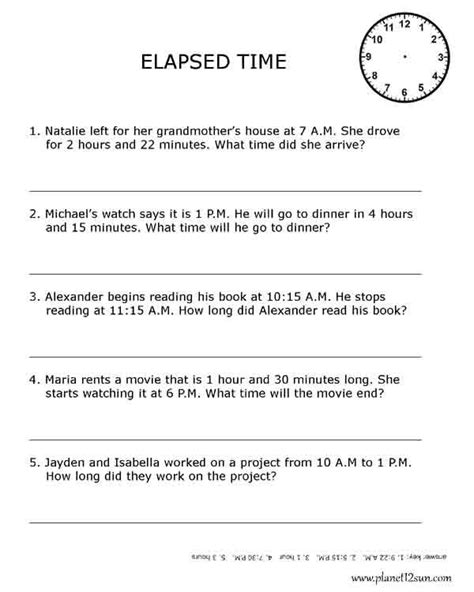 Elapsed Time Worksheets 3rd Grade by 185 Best Images About Math Time On Anchor