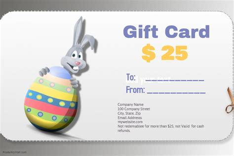 easter gift card template postermywall easter gift card templaet