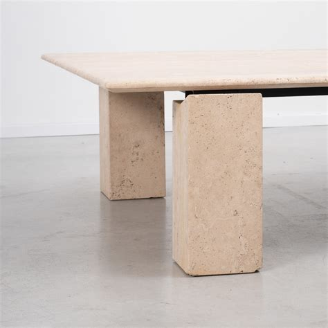 travertine top coffee table rectangular travertine coffee table b 233 ton brut