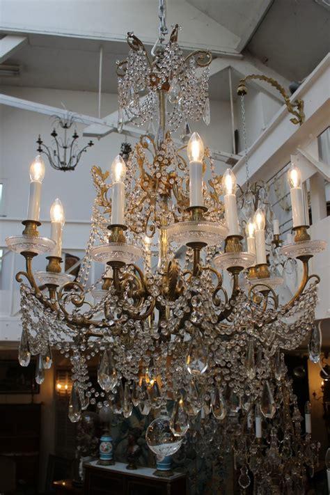 baccarat lustre lustre en bronze et cristal de baccarat fin du xixe