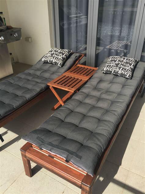 Ikea Chaise 215 by Ikea Set Of 2 Applaro Acacia Wood Sun Loungers Incl Bonus