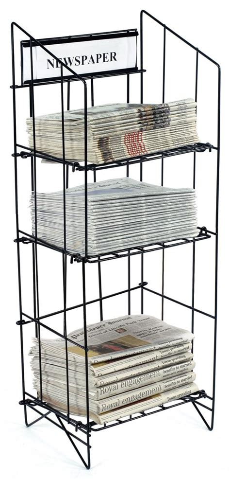 Newspaper Display Rack by Newspaper Rack 3 Shelf Display For Convenience Stores