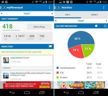 myfitnesspal android app 10 best free health fitness apps for android getandroidstuff