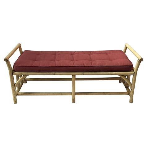rattan benches vintage rattan bench chairish