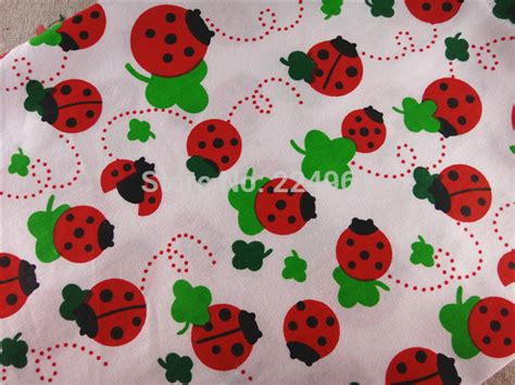 Taslan Fabric 90 150cm free shipping 50cm 150cm ladybug 100 cotton fabric for sewing patchwork bedding fabric diy baby