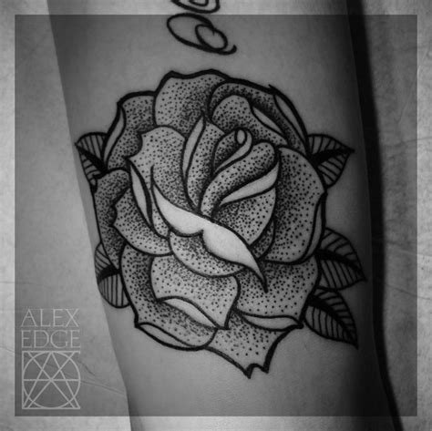 black rose tattoo san diego dotwork mandala sacred geometry mandala
