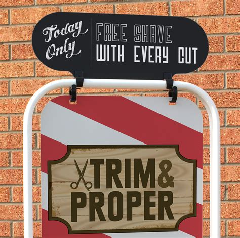 swinging signs pavement signs swinging signs swinger signs vinyl graphics