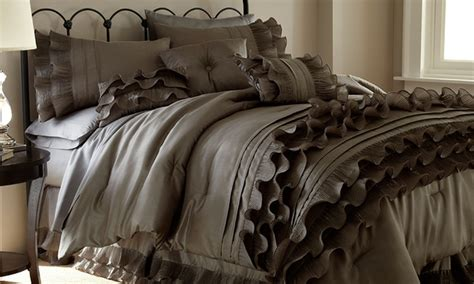 7 or 8 piece luxury embellished comforter set groupon
