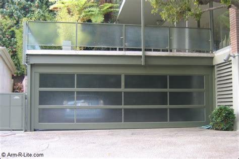 Garage Door R Aluminum And Frosted Glass Garage Door By Arm R Lite