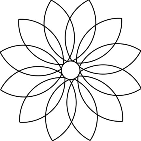 12 petal flower template pictures to pin on pinterest