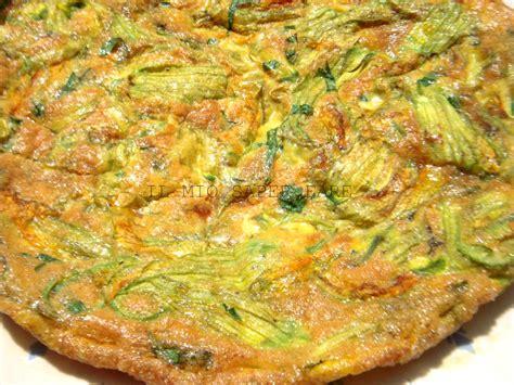 fiori di zucca al forno con pastella frittata di fiori di zucca al forno