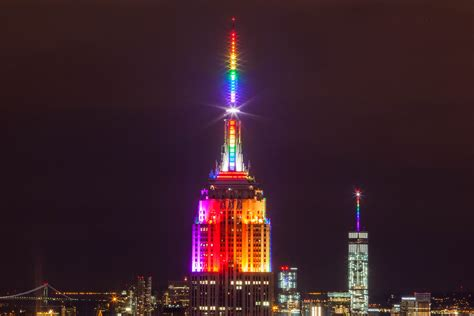 state colors file empire state building in rainbow colors for pride