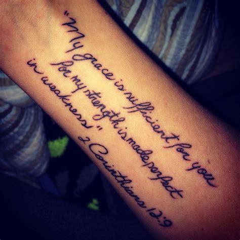 2 corinthians 12 9 tattoo bibleverse wrist tattoos