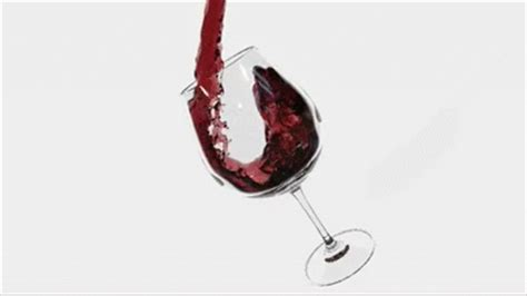 wine birthday gif pouring wine into the glass realflow lightwave fixed