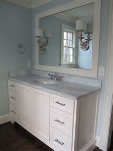 blue bathroom paint transitional bathroom benjamin