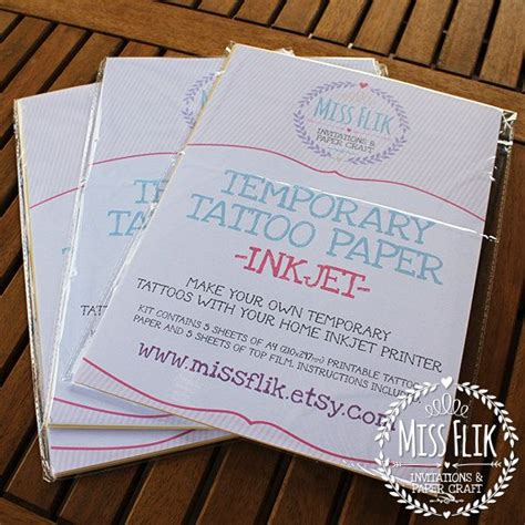 design your own transfer tattoo diy temporary paper print yourself 5 pack make