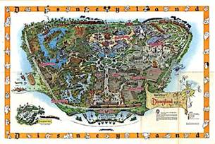 map disneyland florida disney avenue disneyland map evolution 1955 2015