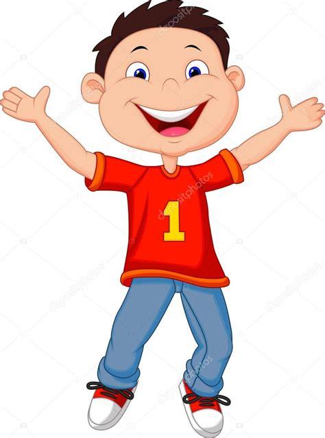 imagenes de niños felices animados ni 241 o feliz de dibujos animados vector de stock