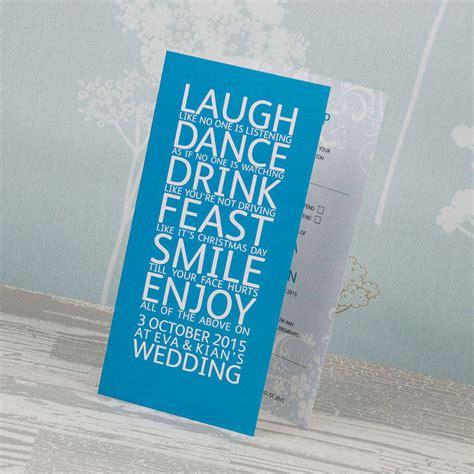 3 fold wedding invitations smile three fold wedding invitation by wedding print