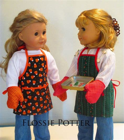 apron pattern american girl doll holiday baker apron and oven mitts 18 doll clothes 18