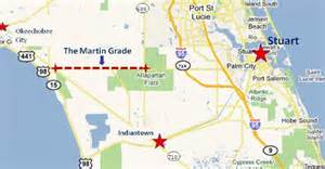 map of martin county florida where is the martin grade