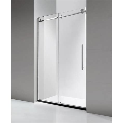 Frameless Shower Door Sliding Dreamwerks 60 In X 79 In Luxury Frameless Sliding Shower Door In Stainless Steel Sb3328l The