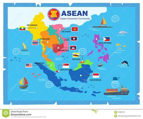 Kaos Import Thailand Mapa 3 carte du monde de la communaut 233 233 conomique d asean de l