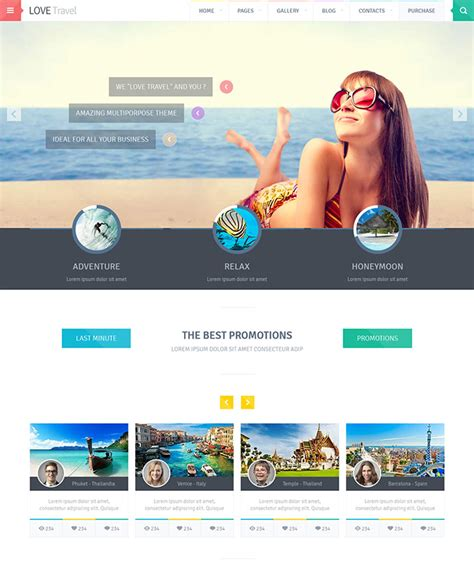 website templates for graphic designers 22 beautiful travel website templates web graphic