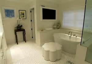 white bathroom tv photo