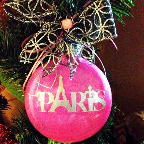 eiffel tower christmas ornament paris ornament glitter