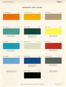 oldgmctrucks gmc paint codes color chips