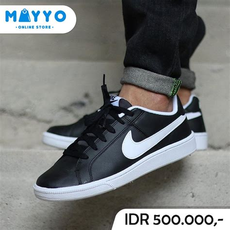 jual sepatu nike court royale leather black white