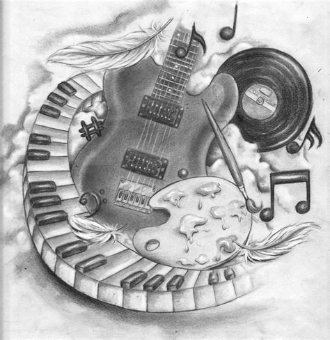 guitar tattoo designs art best tattoo designs