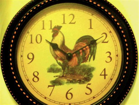 country kitchen clocks country rooster kitchen wall clock