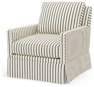blue and striped armchair avon striped swivel chair blue contemporary